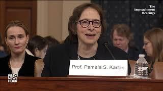 WATCH: Pamela S. Karlan's full opening statement | Trump impeachment hearings
