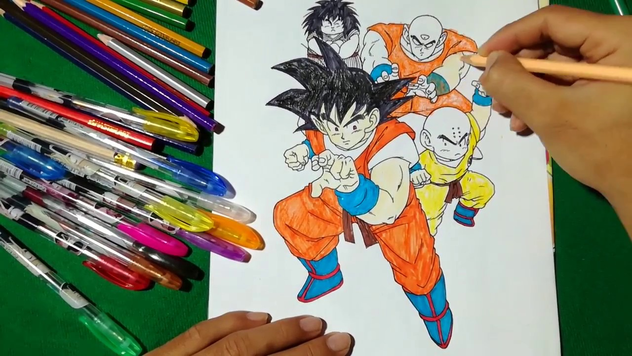 Goku And Friends Coloring Book Page Dragon Ball Z Prepare To Fight SAILANY Kids