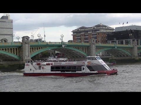 Boats at the Millennium Bridge