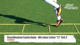 """Fussballtraining: Mit einer Leiter """"L1"""" Teil 2 - Koordination - Kondition"""