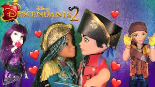 Harry Kisses Uma True Love Kiss Break The Sleeping Curse? Disney Descendants 2 Doll Episode 6