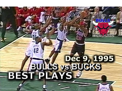 Dec 9 1995 Bulls vs Bucks highlights