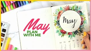 plan with me   may 2017 bullet journal plan with me   setup ideas 30 days of brave challenge