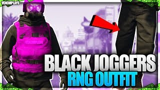 GTA 5 Black Joggers RnG Modded Outfit Using Clothing Glitches 1.46!