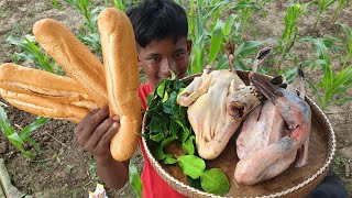Yummy Duck Curry with bread Recipes / Curry u0026 Bread Cooking in Countryside Daily life