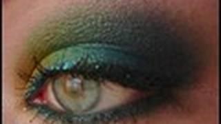 makeup tutorial caribbean green smokey eyes   magimania schminkanleitung