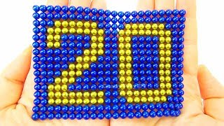 Learn To Count from 1 to 20 | Learn Colors with Magnetic Balls|Playing with 1000 mini magnetic balls