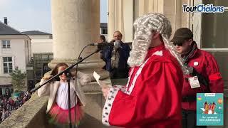 Le juge rend son verdict lors du Carnaval de Châlons en Champagne 2019