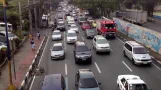 Pasig,Philippines Traffic Jam