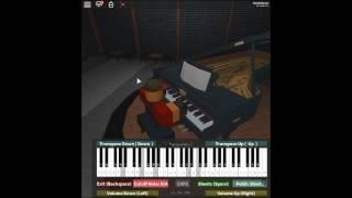 Balançando emoções-hack G.U. por: Chikayo Fukuda em um piano ROBLOX.