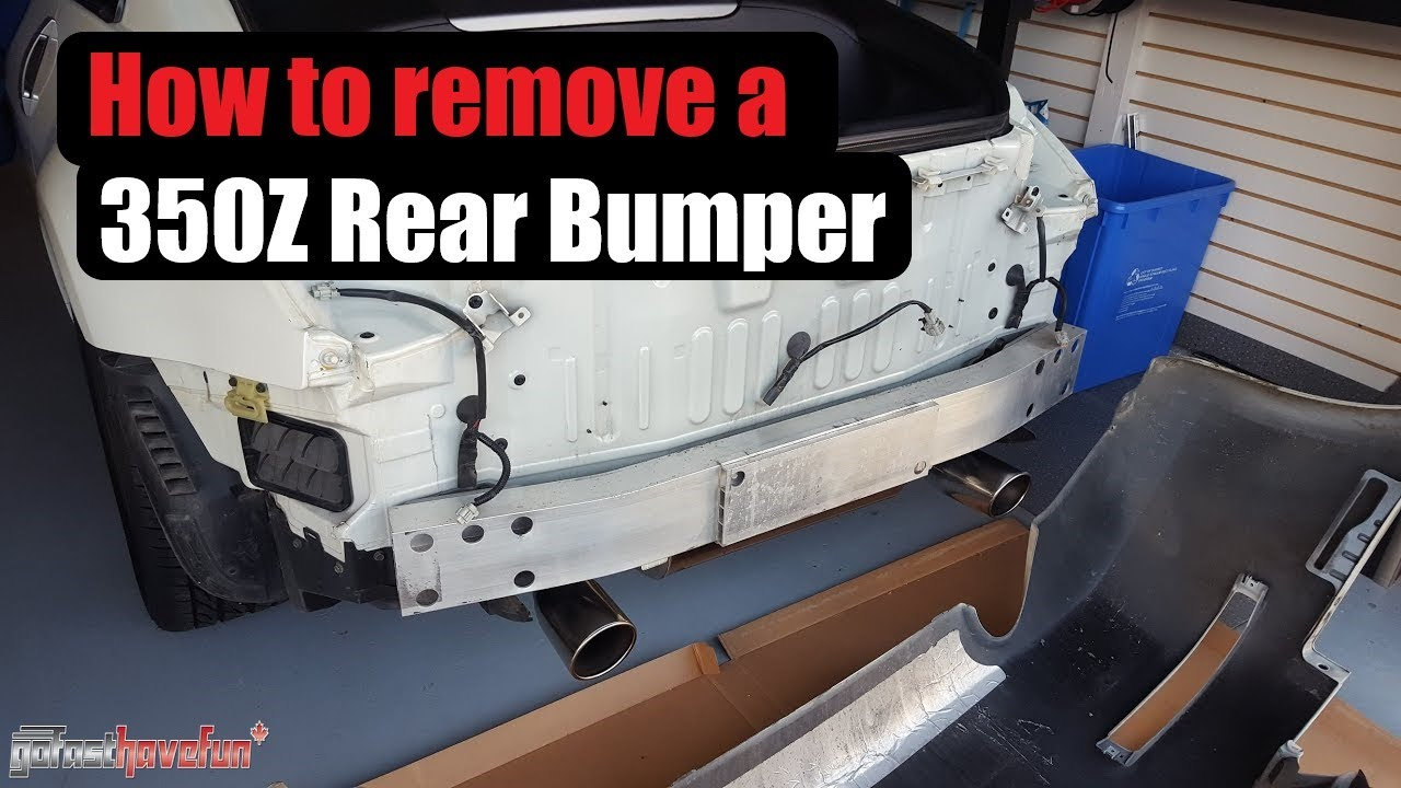 How To Remove A 350z Rear Bumper Anthonyj350 Youtube