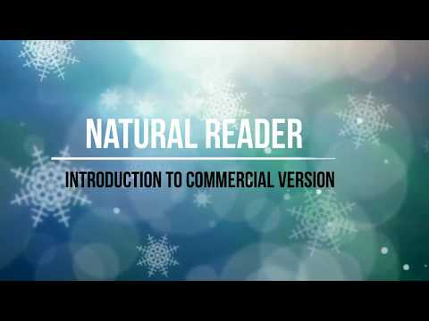 Convert Text To Speech using Natural Reader commercial version #  By Internet World