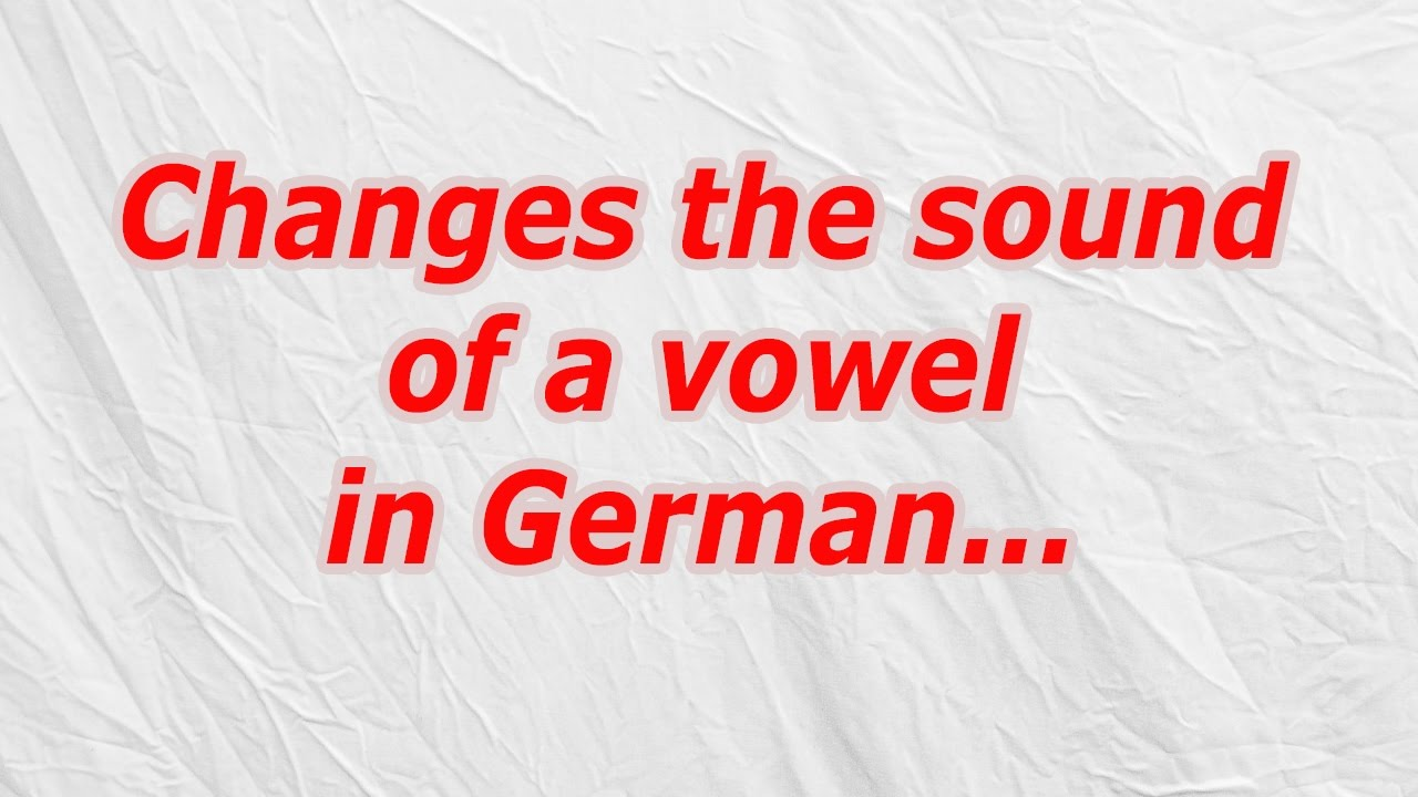 Changes The Sound Of A Vowel In German Codycross Crossword Answer