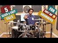 5 SLICK & EASY FILLS For 'JUST OK' DRUMMERS - PRACTICE AID VIDEO!: If you consider yourself a 'just OK' drummer and you wanna step your drum fill game up - this video is for you! Mount your phone or tablet beside your kit and try a couple of these fills along with me! SUBSCRIBE TO THE CHANNEL for more great free drum lessons, tips, advice and cool product reviews.  🥁GRAB YOUR 'RUDIMENT' T OR HOODIE! VISIT THE OFFICIAL MERCH ONLINE SHOP HERE! https://bit.ly/2TASGQd WORLDWIDE SHIPPING 🌎  ✴️DOWNLOAD 'SOLO COMPS FOR DRUMMERS' PLAY ALONG ALBUM!  https://apple.co/2QARPZ8 (iTunes 🇺🇸) https://apple.co/2YR6JiH (Apple Music)  🚨Album is available worldwide on all major music download sites. If outside the US, just type in the album title in the search bar of the music provider in your country  KIT PRACTICE TIMESTAMPS 3:18 Fill Sticking #1 - On Snare (60bpm) 6:06 Fill Sticking #1 - On Kit (60bpm) 8:13 Fill Sticking #2 10:58 Fill Sticking #3 13:05 Fill Sticking #4 15:50 Fill Sticking #5  BEATDOWN'S KIT Yamaha Stage Custom Birch Evans UV1 (top) Evans RESO 7 (bottom) Paiste Cymbals Promark Sticks  SUPPORT THIS CHANNEL ON PATREON! https://www.patreon.com/robbrownondrums OR SHOW YOUR ONE TIME SUPPORT WITH A DONATION! http://www.robbrownondrums.com/?page_...  BEATDOWN BROWN'S WEBSITE  http://robbrownondrums.com  TWITTER: http://twitter.com/robbrowndrums FACEBOOK FAN PAGE: http://www.facebook.com/RobBrownOnDrums  ROB BROWN ENDORSES http://yamahadrums.com http://paiste.com http://promark.com http://evansdrumheads.com