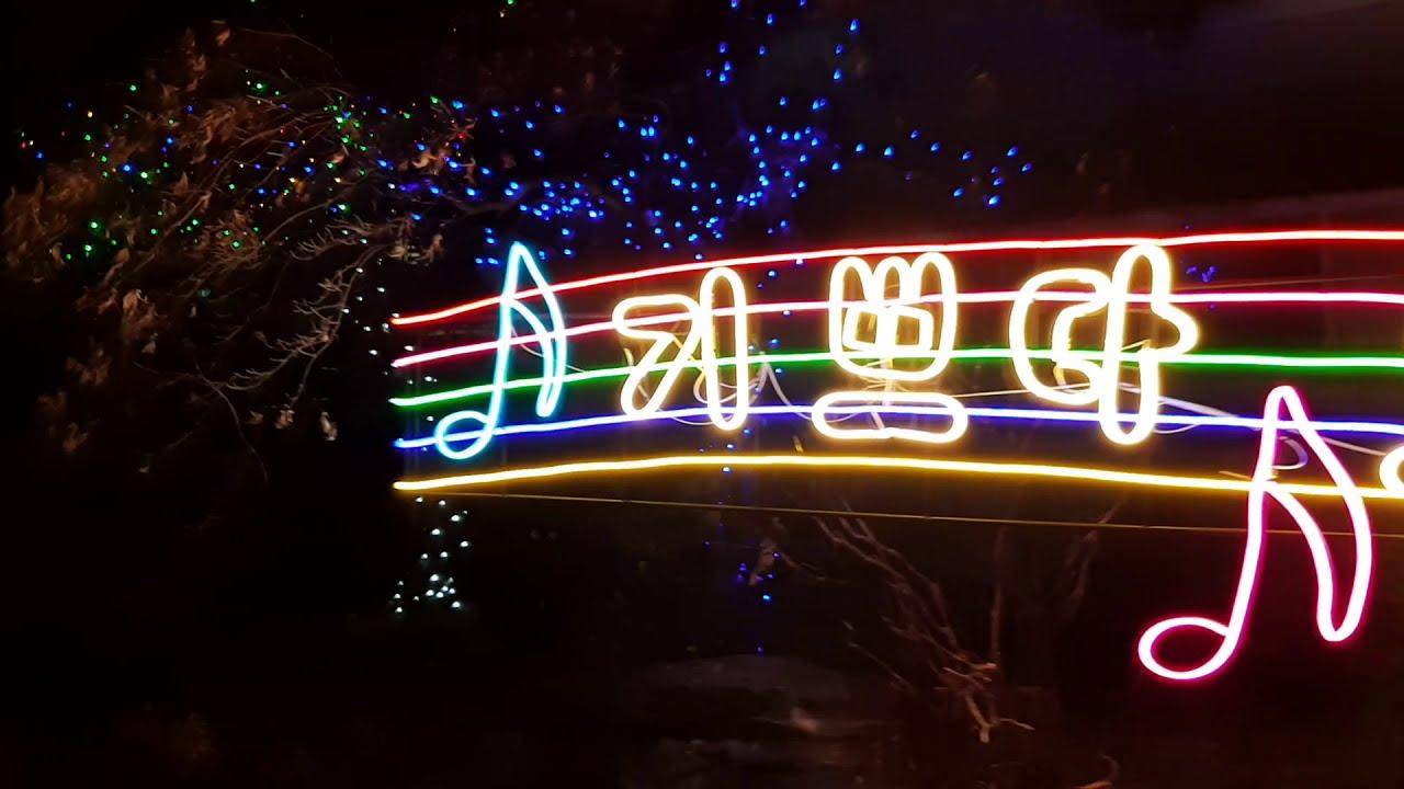 기쁘다 구주 오셨네 성탄트리와 츄리 장식 led 야경 -Joy to the world Christmas tree and tree decoration LED night view -