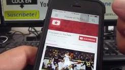 Cómo borrar el historial de YouTube en iphone 5S 5C 5 4 iOS 7 español Channeliphone