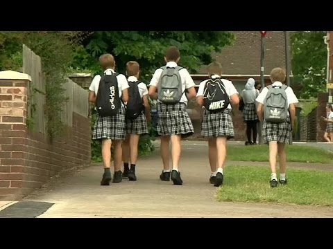 Skirting the issue: schoolboys attend class in skirts during heatwave