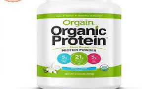 Orgain Organic Plant Based Protein Powder, Sweet Vanilla Bean, 2.03 Pound, Packaging May Vary