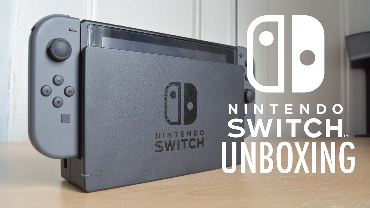 Nintendo Switch Grey Unboxing Youtube