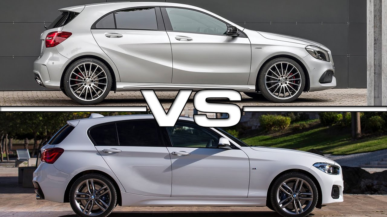 2016 Mercedes A Class vs 2016 BMW 1 Series - YouTube