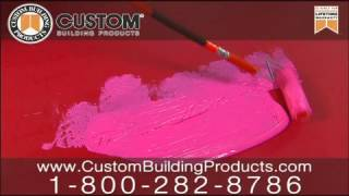 Custom Building Products - Redgard - Pre-roll On Tile-tv