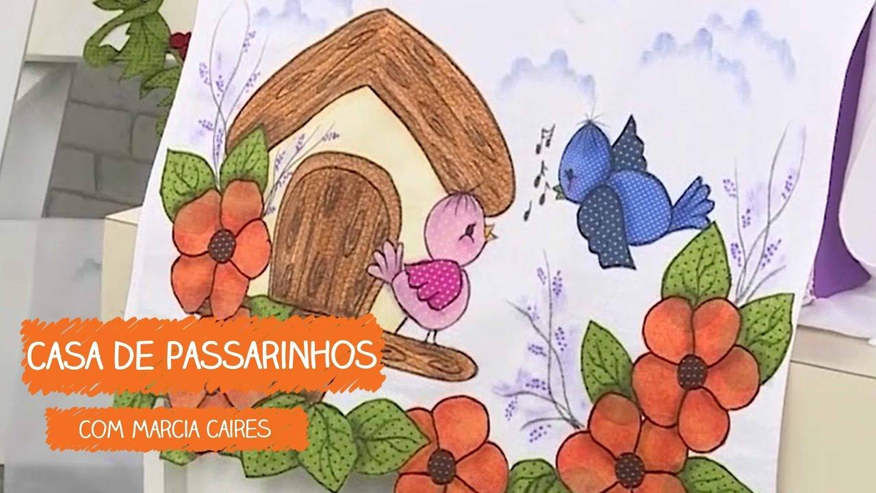 Adesivo De Parede Sala ~ Casa de Passarinhos Marcia Caires Vitrine do Artesanato na TV Rede Família YouTube