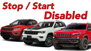 Stop Start disabled Jeep Cherokee , Compass , Grand Cherokee