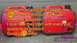 Honda Eu2000i Vs Eu2200i Vs A Ipower Yamaha Sc2000i Generator Start Up And  Noise Comparison