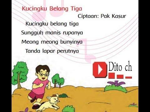 Lagu Tematik - Kucing Belang Tiga - Kelas 1