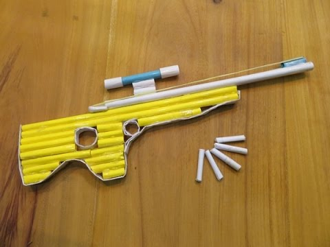 How to Make a Paper Gun That Shoots paper Bullets - GTa Weapon