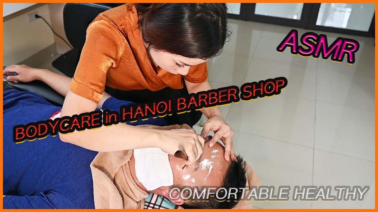 Vietnam barber shop tour. Awesome massage service. 하노이 서울이발관 Part 2