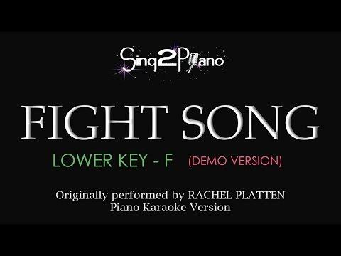 Fight Song (Lower Key - Piano karaoke demo) Rachel Platten