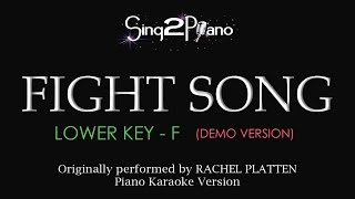 Fight Song Lower Key Piano karaoke demo Rachel Platten