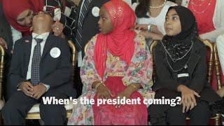 Obama Charms Impatient Children