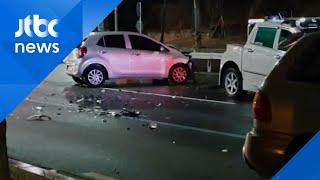 경남 창원서 음주운전 역주행 사고…직진 차량 들이받아 / JTBC 아침&