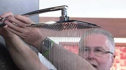 """HotelSpa 9"""" Large Round or Square Rainfall Shower Head with Dan Hughes"""