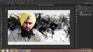Photoshop text clipping tutorial in Punjabi