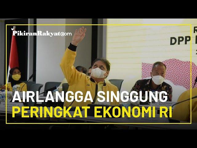 Menko Perekonomian Airlangga Hartarto Sebut Pertumbuhan Ekonomi Indonesia Duduki Peringkat 4