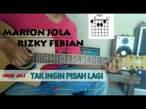 TUTORIAL CHORD GITAR Tak Ingin Pisah Lagi - Marion Jola  Rizky Febian