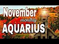 ♒Aquarius Nov2018 GO FOR the NEW BEGINNING, GUARD your Words Monthly psychic tarot card reading