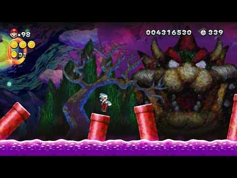 New Super Mario Bros U - All Secret Exit Locations