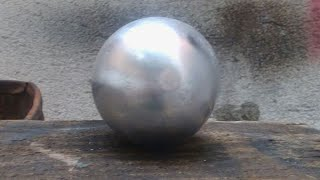 Alüminyumdan Top yapımı... | Making a Ball With Melted Alimium