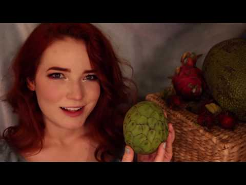 ASMR Trying Peculiar Fruits (Whispered)
