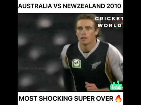 Most Shocking And Thrilling Super Over In Cricket Australia Vs New Zealand T20 Cricket Youtube