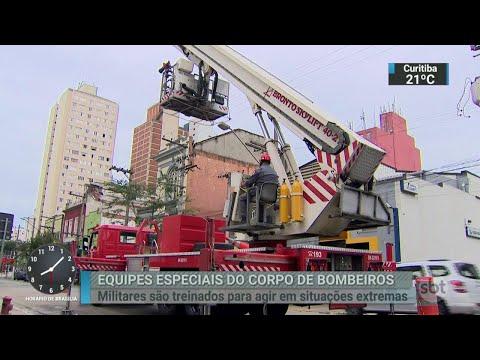 Saiba como é a rotina de treinamento do Corpo de Bombeiros | SBT Brasil (15/05/18)