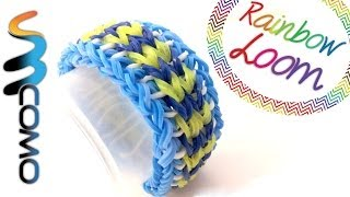 Repeat youtube video Rainbow Loom - Pulseira Sailors Pinstripe