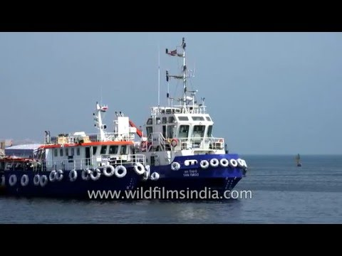Visakhapatnam harbour hosts fishing boats, trawlers and international traffic