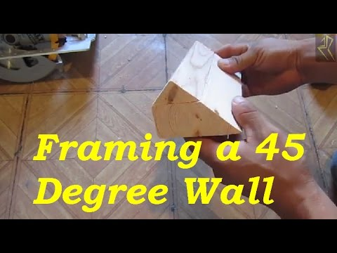 How To Frame A 45 Degree Wall Youtube