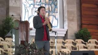 Dharix Blue at CDO Central Church Saxophone Instrumental Music - Unshakeable Kingdom