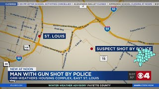 Suspect shot after firing at officers in East St. Louis Sunday, police say